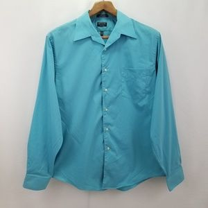 Arrow Stretch 17.5 36 Teal Blue Shirt